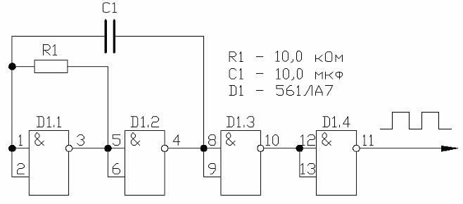 Схема простого генератора